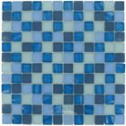 "Optimal Tile - 7/8"" x 7/8"" Pearl Glass Mosaic in South Sea"