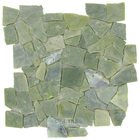 Spa Tile - Jade Stone - Mesh Backed Sheet in Polished Indigo