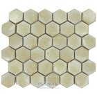"Stellar Tile - Cobble - 2"" Hexagon Ceramic Mosaic Tile in Polar"