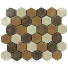 "Stellar Tile - Cobble - 2"" Hexagon Ceramic Mosaic Tile in Tahoma"