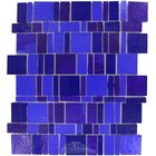 Vicenza Mosaico Glass Tiles USA - Freedom Handcut Glass Mesh Mounted Sheets In Azul
