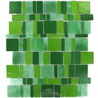 Vicenza Mosaico Glass Tiles USA - Freedom Handcut Glass Mesh Mounted Sheets In Verde