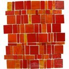 Vicenza Mosaico Glass Tiles USA - Freedom Handcut Glass Mesh Mounted Sheets In Rosso
