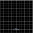 "Vicenza Mosaico Glass Tiles USA - Lumina 5/8"" Glass Film-Faced Sheets in Onyx Black"