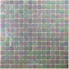 "Vicenza Mosaico Glass Tiles USA - Iride 3/4"" Glass Film-Faced Sheets in Warm Fog"