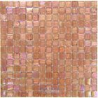 "Vicenza Mosaico Glass Tiles USA - Iride 3/4"" Glass Film-Faced Sheets in Sweet Melon"