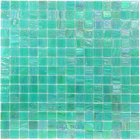 "Vicenza Mosaico Glass Tiles - 3/4"" Iride Glass - 3/4"" Glass Film-Faced Sheets in Mermaid Song"