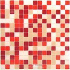 "Vicenza Mosaico Glass Tiles - Mosaic Blends 3/4"" - Film-Faced Sheets in Fierce"