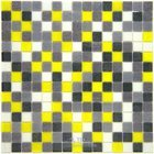"Vicenza Mosaico Glass Tiles - Mosaic Blends 3/4"" - Film-Faced Sheets in Flutter"