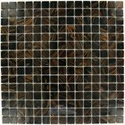 "Illusion Glass Tile - Glass Mosaics - 3/4"" x 3/4"" Glass Mosaic Tile in Chocolate Havana"