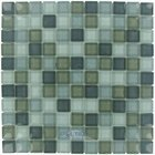 "Illusion Glass Tile - 7/8"" x 7/8"" Glass Mosaic Tile in Stormy Skys Clear"