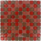 "Illusion Glass Tile - 7/8"" x 7/8"" Glass Mosaic Tile in Romance Glitter"