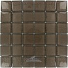 "Illusion Glass Tile - 1 7/8"" x 1 7/8"" Glass Mosaic Tile in Mink"