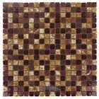 "Illusion Glass Tile - 5/8"" x 5/8"" Stone & Glass Mosaic Tile in Ruby Tuesday"