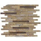 Illusion Glass Tile - Faultline Metal & Stone Mosaic Tile in Pinnacles Fault Line
