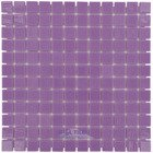 "Vidrepur Glass Tiles - 1"" x 1"" Colors Recycled Glass Tile in Purple Lila"