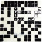 Vidrepur - Special - Recycled Glass Tile Mesh Backed Sheet in Black/White Mix
