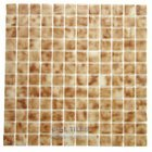 Mosaic Glass Tile by Vidrepur Glass Mosaic Deco Collection Recycled Glass Tile Mesh Backed Sheet in Stone