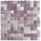 "Mosaic Glass Tile by Vidrepur - Lux Collection 1"" x 1"" Recycled Glass Tile on 12 3/8"" x 12 3/8"" Meshed Backed Sheet in Pink Passion"