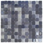 "Mosaic Glass Tile by Vidrepur - Lux Collection 1"" x 1"" Recycled Glass Tile on 12 3/8"" x 12 3/8"" Meshed Backed Sheet in Northern Lights"