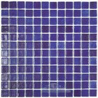 Mosaic Glass Tile by Vidrepur Glass Mosaic Nieblas Collection Recycled Glass Tile Mesh Backed Sheet in Fog Navy Blue