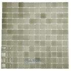 Mosaic Glass Tile by Vidrepur Glass Mosaic Nieblas Collection Recycled Glass Tile Mesh Backed Sheet in Fog Grey