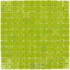 Mosaic Glass Tile by Vidrepur Glass Mosaic Lisos Collection Recycled Glass Tile Mesh Backed Sheet in Pistachio