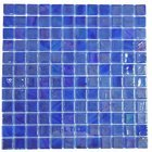 Vidrepur - Titanium - Recycled Glass Tile Mesh Backed Sheet in Brushed Dark Blue Iridescent