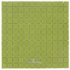 "Mosaic Glass Tile by Vidrepur - Essentials Collection 1"" x 1"" Recycled Glass Tile on 12 1/2"" x 12 1/2"" Meshed Backed Sheet in Watermelon"