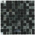 Vidrepur - Mixes - Recycled Glass Tile Mesh Backed Sheet in Black Diamond