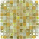 Mosaic Glass Tile by Vidrepur Glass - Mosaic Mixes Collection Recycled Glass Tile Mesh Backed Sheet in Desert
