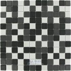 "Mosaic Glass Tile by Vidrepur - Essentials Collection 1"" x 1"" Recycled Glass Tile on 12 1/2"" x 12 1/2"" Mesh Backed Sheet in Zen Mix"